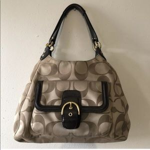 F247742 Coach Signature Sateen Shoulder Bag